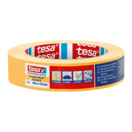 Tesa oranje-gele tape 4344 50m x 25mm